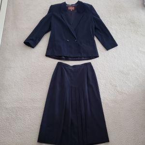 Vintage Worthington Navy Skirt Suit